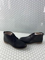 NWB Sperry Top-Sider WAYPOINT Black Leather Lace Up Desert Booties Women's 8 M