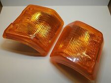 TURN SIGNAL LIGHT LENS AMBER LEFT & RIGHT PAIR VOLKSWAGEN VANAGON 251953141 /142
