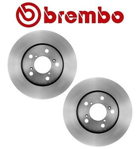 For Honda Odyssey 2005-2010 Set of 2 Front Disc Brake Rotors Vented 296mm Brembo