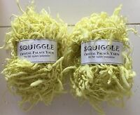 LOT of 2 Crystal Palace Yarns Squiggle #2266 Limeade Pigtail Eyelash