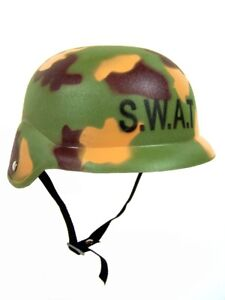 Kinder-Einsatzhelm SWAT Army Helm Haltegurt Camouflage Tarn-Optik Fasching