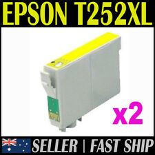 2x Yellow T252XL T252 Compatible Ink for Expression Workforce WF3620 3640 7610