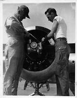 Vtg Original Official USAAF 8x10 Military Airmen Working on Plane Engine 1941-47
