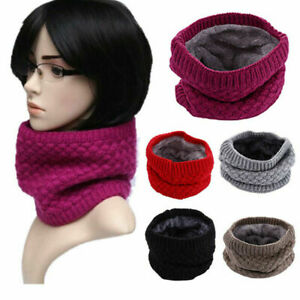 Unisex Thermal Knit Neck Warmer Winter Snood Scarf Tube Cycling Motorcycle Ski