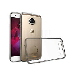 Clear Bumper TPU Hard Shockproof Phone Cover Case For Motorola Moto Z2 Force