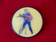 ELVIS ~ELVIS MOTION BUTTON~ ~VARI VUE~ 3'' ROUND ~ COLLECTABLES
