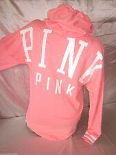 Victorias Secret PINK Sweatshirt Hoodie Slouchy Pullover Coral XS Womens Nwt