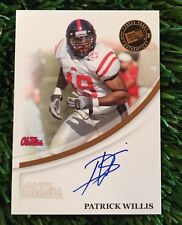 2007 PATRICK WILLIS PRESS PASS AUTO ROOKIE SAN FRANCISCO 49ERS OLE MISS REBELS