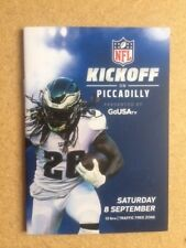NFL / NFL LONDON GAMES Kickoff On Piccadilly Brochure Saturday 8 September 2018