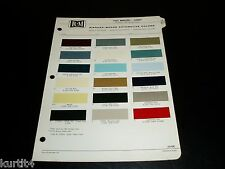 1961 Mercury Comet R-M paint color chip chart sheet sample with Spring Colors