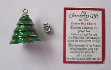 p MY CHRISTMAS GIFT TO YOU Prayer Box Charm Tree mini present inside pendant