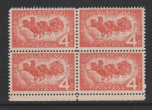 USA - 1958, 4c Rot, Overland Post Block Of 4 - M/M - Sg 1119