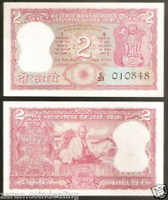 B.N. Adarkar India 2 Rupees Gandhi Back @ Uncirculated condition (B-10)