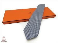 Mint condition! Authentic Hermes Geometric pattern Necktie (HEK0302)