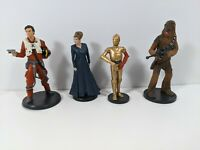 Star Wars PVC Figurines - Disney - Leia, Poe Dameron, C-3PO, Chewbacca