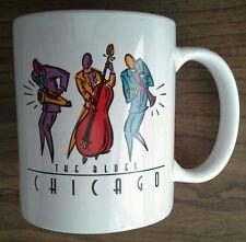 RARE CHICAGO BLUES COFFEE MUG CUP jazz rock music BASS TRUMPET SAXAPHONE