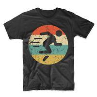 Marathon Running Shirt - Retro Runner Icon T-Shirt - Cross Country Coach Gift