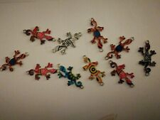 Jewellery Crafts Bracelet Necklace Gecko Lizard Charms 10pcs