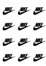 Sheet of 9 Black Nike Logo Decal / D.I.Y Project / Stickers 2 Inch Wide