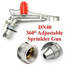 1.5'' Irrigation Spray Gun Sprinkler Gun Large 360° Adjustable Impact Area Water