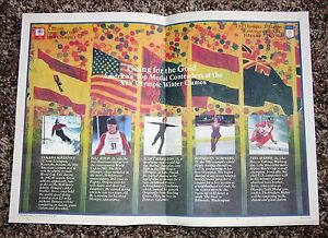 1984 XIV Winter Olympics McDonalds tray liner Scott Hamilton Tamara McKinney