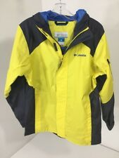 COLUMBIA YOUTH BOYS CYPRESS BROOK II JACKET YELLOW/NAVY SZ 10/12 (MEDIUM)