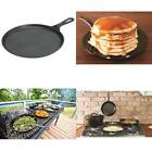 "Cast Iron Round Griddle Pre Seasoned Pancake Tortilla Pan Crepe 10.5"" FREE SHIP"