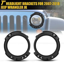 Pair 7' Led Headlight Mount Bracket Ring Bucket Base For Jeep Wrangler Jk 07-18 (Fits: Isuzu Trooper)