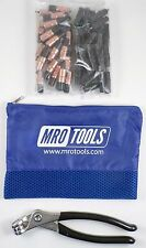 25 1/8 & 25 5/32 Extra Short Cleco Fasteners + Pliers w Mesh Bag (Kk4S50-2)