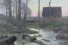 Arthur GUÉ (1857-1916) Paysage Huile/toile Luigi Loir Rochefort poitiers crozant