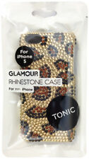 Cygnett Tonic iPhone 5S 5 SE Glamour Rhinestone Leopard Case Cover Gold Black