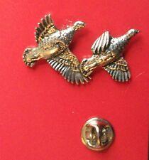English Pewter PARTRIDGE, bird Pin Badge Tie Pin / Lapel Badge (XTSBPB33)