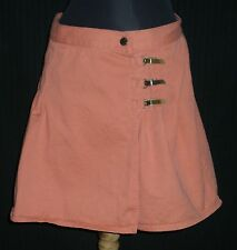 Carolina Colours Muted Orange Skorts/Shorts Jrs Sz 13/14 W:30 H:42 R:14 I:4 L:17