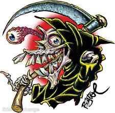 Carpe Diem Sticker Decal Artist Big Toe Grim Reaper BT46 Roth Like