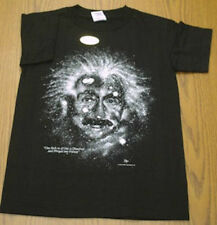 EINSTEIN  STARRY NIGHTS  T-SHIRT.  Size YOUTH SMALL  Science  Astronomy. NEW.