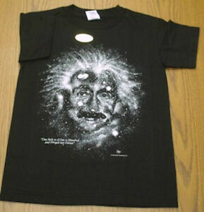 EINSTEIN  STARRY NIGHTS  T-SHIRT.  Size Adult LARGE  Science  Astronomy. NEW.