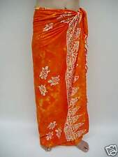 NEW SARONG ORANGE TURTLE DESIGN TIE DYE BEACH WEAR WRAP SKIRT ONE SIZE / sa113