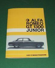 Uso e manutenzione Alfa Romeo GT 1300 Junior SCALINO use and maintenance-