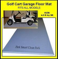 Park Smart 4.5' x 9' Golf Cart Garage Floor Mat - Luxury Grade 50 Mil w SmartMat