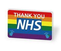 NHS Rainbow Thank You Doctor Nurse LARGE Pin Badge UK 2020 PANDEMIC HERO