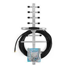 698~2700MHz 9dBi Outdoor Yagi Antenna SMA Use 2G 3G 4G LTE Phone Signal Booster