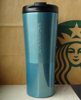 Starbucks Tumbler Thermobecher Edelstahl Phinney blau mit Schriftzug 16oz NEU