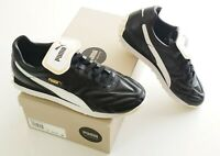 Mens PUMA King Avanti Premium Leather Sneaker, Black, 10, 10.5, 11 - $80 Retail