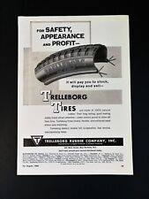 Vintage 1966 Trelleborg Rubber Company Bicycle Tires Full Page Original Ad