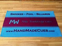 MIKE WOOLDRIDGE CUE TOWELS NEW