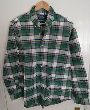 Men's Green Check Polo Ralph Lauren Shirt Size Medium