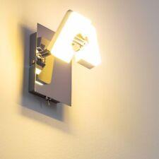 Applique Muro LED Lampada Parete Faretto Salotto Cucina Sala Camera Cromo Design