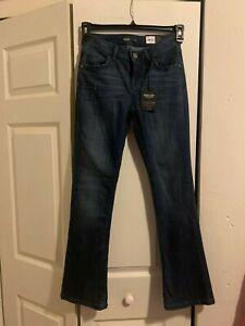 Petite Simply Vera Wang Everyday Luxury Midrise Bootcut Indigo Ocean Jeans Reg.