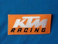 KTM MOTOCROSS RACING MOTORBIKE DIRT BIKE SEW IRON ON PATCH BADGE
