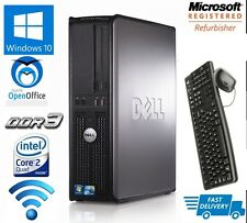 DELL DESKTOP TOWER PC INTEL QUAD CORE CPU 1TB HD 16GB RAM WI-FI WINDOWS 10